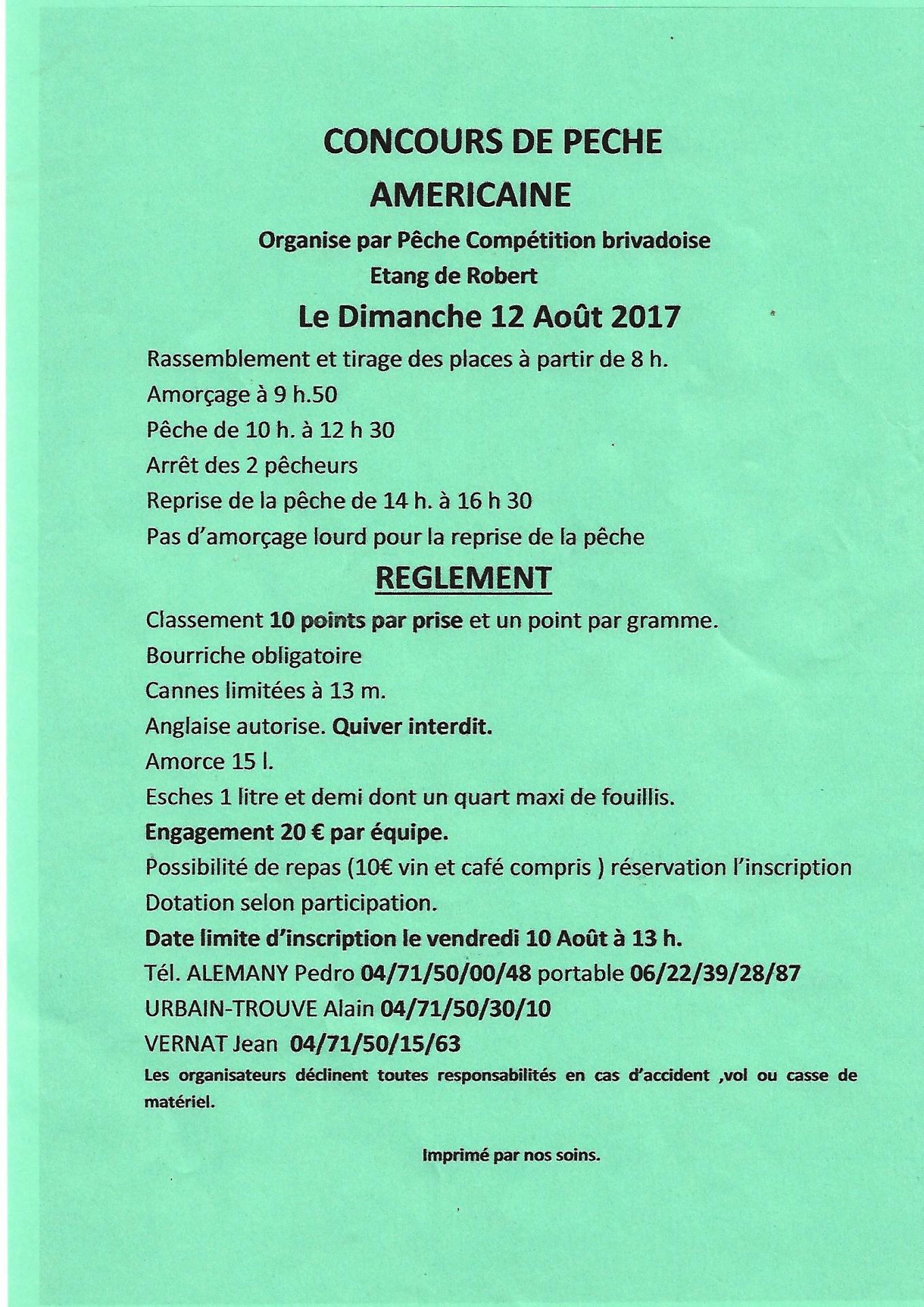 Concours americaine 12 aout